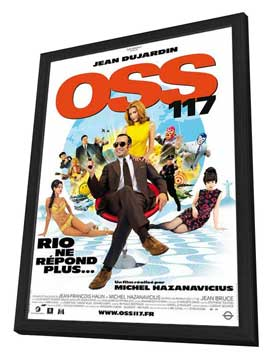 OSS 117: Rio ne Repond Plus - 27 x 40 Movie Poster - French Style A - in Deluxe Wood Frame