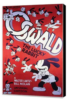 Oswald the Lucky Rabbit - 27 x 40 Movie Poster - Style A - Museum Wrapped Canvas