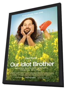 Our Idiot Brother - 27 x 40 Movie Poster - Style A - in Deluxe Wood Frame