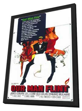 Our Man Flint - 11 x 17 Movie Poster - Style A - in Deluxe Wood Frame