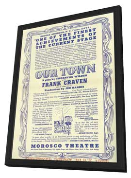 Our Town (Broadway) - 11 x 17 Movie Poster - Style A - in Deluxe Wood Frame