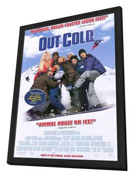 Out Cold - 27 x 40 Movie Poster - Style A - in Deluxe Wood Frame