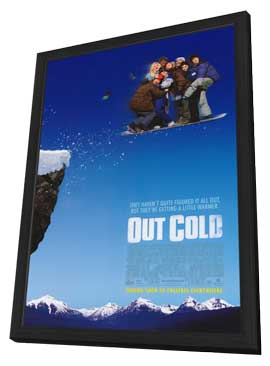 Out Cold - 11 x 17 Movie Poster - Style B - in Deluxe Wood Frame