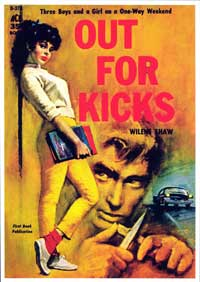 Out For Kicks - 11 x 17 Retro Book Cover Poster