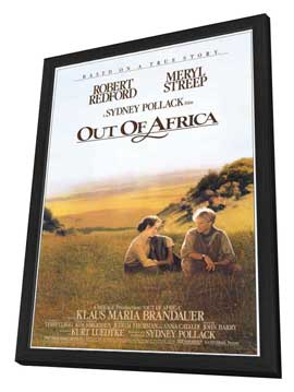 Out of Africa - 11 x 17 Movie Poster - Style A - in Deluxe Wood Frame
