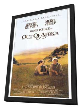 Out of Africa - 27 x 40 Movie Poster - Style A - in Deluxe Wood Frame