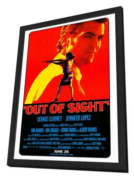 Out of Sight - 27 x 40 Movie Poster - Style A - in Deluxe Wood Frame