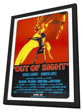Out of Sight - 11 x 17 Movie Poster - Style C - in Deluxe Wood Frame