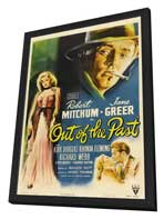 Out of the Past - 27 x 40 Movie Poster - Style A - in Deluxe Wood Frame