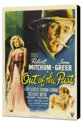 Out of the Past - 27 x 40 Movie Poster - Style A - Museum Wrapped Canvas