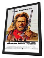 The Outlaw Josey Wales - 11 x 17 Movie Poster - Style A - in Deluxe Wood Frame