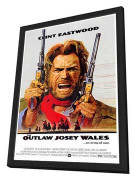 The Outlaw Josey Wales - 27 x 40 Movie Poster - Style A - in Deluxe Wood Frame