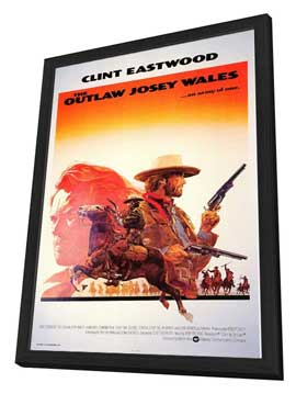 The Outlaw Josey Wales - 27 x 40 Movie Poster - Style B - in Deluxe Wood Frame