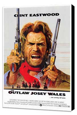 The Outlaw Josey Wales - 27 x 40 Movie Poster - Style A - Museum Wrapped Canvas