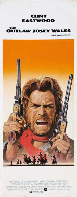 The Outlaw Josey Wales - 14 x 36 Movie Poster - Insert Style B