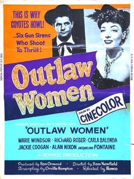 Outlaw Women - 11 x 17 Movie Poster - Style C