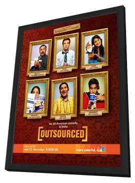Outsourced (TV) - 11 x 17 TV Poster - Style A - in Deluxe Wood Frame