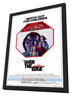 Over the Edge - 11 x 17 Movie Poster - Style A - in Deluxe Wood Frame
