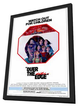 Over the Edge - 27 x 40 Movie Poster - Style A - in Deluxe Wood Frame