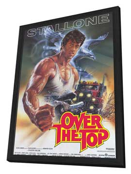 Over the Top - 11 x 17 Movie Poster - German Style A - in Deluxe Wood Frame