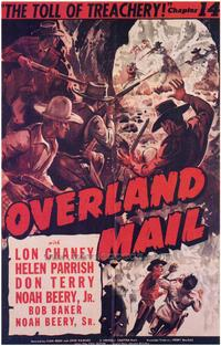 Overland Mail - 43 x 62 Movie Poster - Bus Shelter Style A