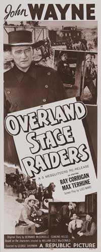 Overland Stage Raiders - 14 x 36 Movie Poster - Insert Style A