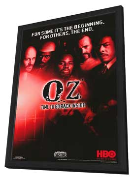 Oz - 11 x 17 TV Poster - Style A - in Deluxe Wood Frame