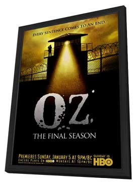 Oz - 27 x 40 TV Poster - Style A - in Deluxe Wood Frame