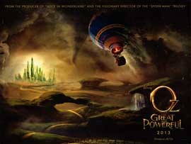 Oz: The Great and Powerful - DS British Quad 30 x 40 - Style A