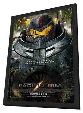 Pacific Rim - 11 x 17 Movie Poster - Style A - in Deluxe Wood Frame