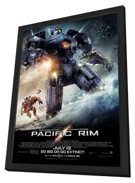 Pacific Rim - 27 x 40 Movie Poster - Style B - in Deluxe Wood Frame