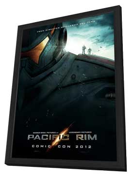 Pacific Rim - 27 x 40 Movie Poster - Style C - in Deluxe Wood Frame