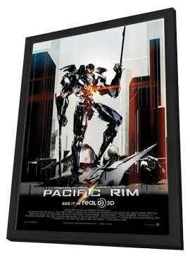 Pacific Rim - 27 x 40 Movie Poster - Style D - in Deluxe Wood Frame