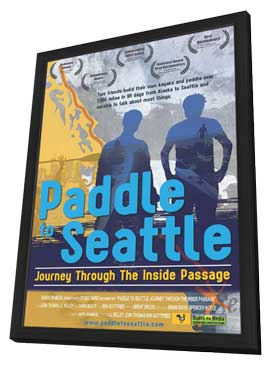Paddle to Seattle: Journey Through the Inside Passage - 11 x 17 Movie Poster - Style B - in Deluxe Wood Frame