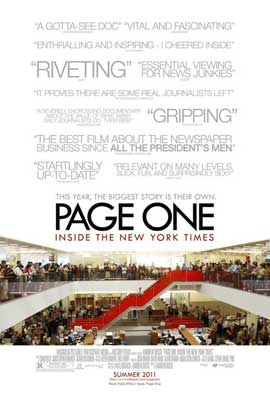 Page One: Inside the New York Times - 11 x 17 Movie Poster - Style A