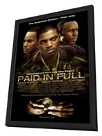 Paid in Full - 27 x 40 Movie Poster - Style B - in Deluxe Wood Frame