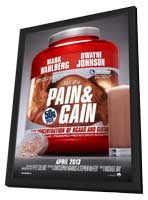 Pain and Gain - 11 x 17 Movie Poster - Style B - in Deluxe Wood Frame