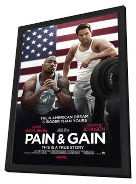 Pain and Gain - 27 x 40 Movie Poster - Style A - in Deluxe Wood Frame