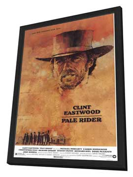 Pale Rider - 27 x 40 Movie Poster - Style A - in Deluxe Wood Frame