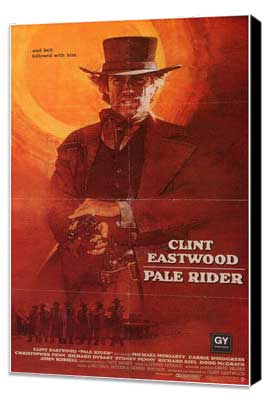 Pale Rider - 11 x 17 Movie Poster - Style B - Museum Wrapped Canvas