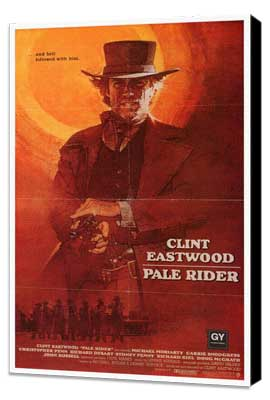 Pale Rider - 27 x 40 Movie Poster - Style B - Museum Wrapped Canvas