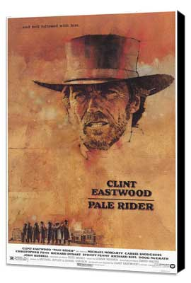 Pale Rider - 27 x 40 Movie Poster - Style A - Museum Wrapped Canvas