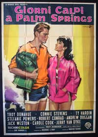 Palm Springs Weekend - 11 x 17 Movie Poster - Italian Style A