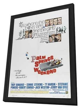 Palm Springs Weekend - 11 x 17 Movie Poster - Style B - in Deluxe Wood Frame