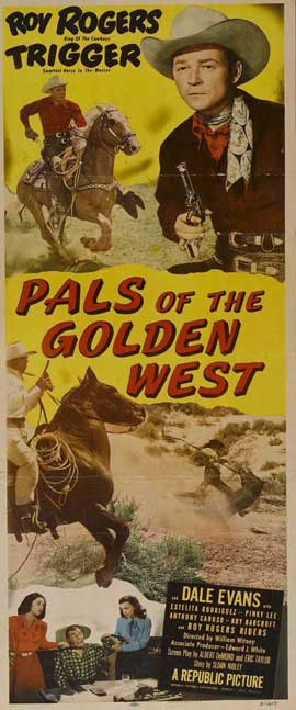 Pals of the Golden West - 14 x 36 Movie Poster - Insert Style A