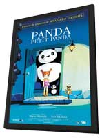 Panda! Go Panda! - 11 x 17 Movie Poster - French Style A - in Deluxe Wood Frame
