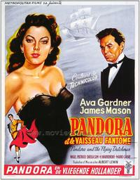 Pandora and the Flying Dutchman - 27 x 40 Movie Poster - Belgian Style A