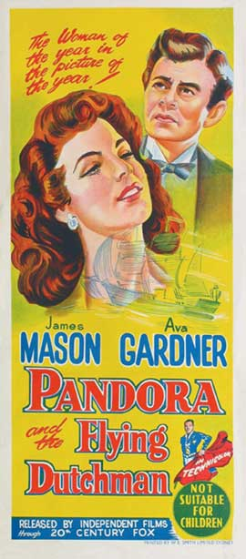 Pandora and the Flying Dutchman - 13 x 30 Movie Poster - Australian Style A