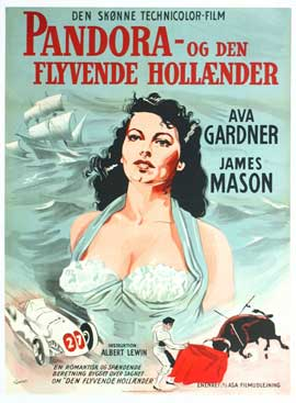 Pandora and the Flying Dutchman - 27 x 40 Movie Poster - Danish Style A