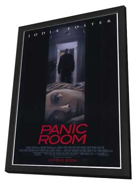 Panic Room - 27 x 40 Movie Poster - Style B - in Deluxe Wood Frame